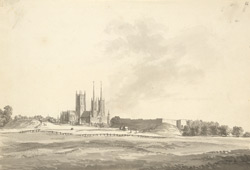Lincoln Cathedral and Castle, from the north-west
